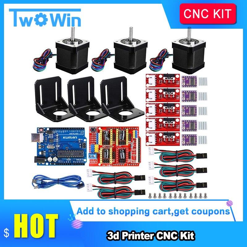 Professional 3d Printer CNC Kit +UNO R3 Board+RAMPS 1.4 Mechanical Switch Endstop+DRV8825 Motor Driver+Nema 17 motor